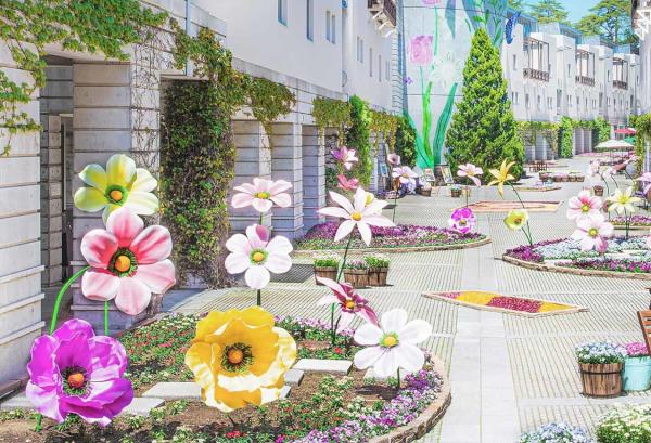 回廊の花咲くリゾナーレ