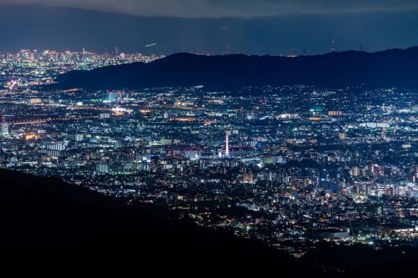 比叡山から望む夜景